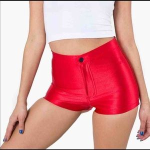 American Apparel Disco Shorts Red